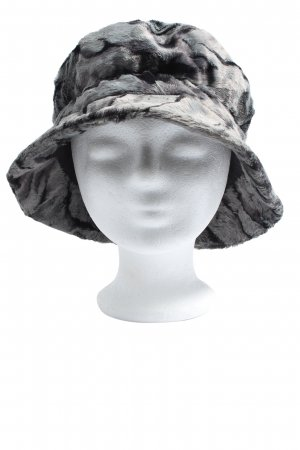MAYSER Cloche Hat light grey-black abstract pattern casual look
