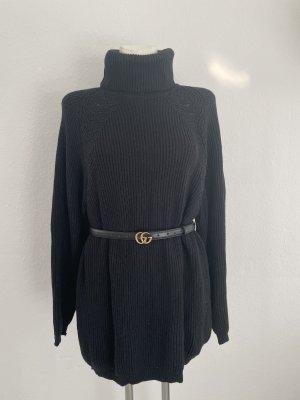 Mayser gr 42 schwarz Wolle Pullover long