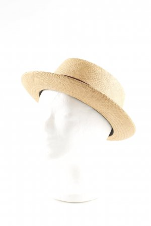 MAYSER Straw Hat cream-brown classic style