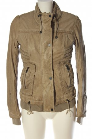 Maze Faux Leather Jacket brown casual look