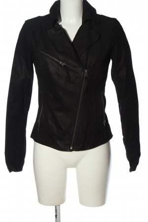 Maze Faux Leather Jacket black casual look