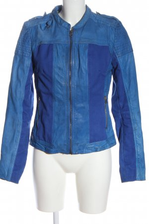 Maze Leather Jacket blue casual look