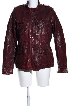 Maze Lederjacke rot-schwarz Farbverlauf extravaganter Stil