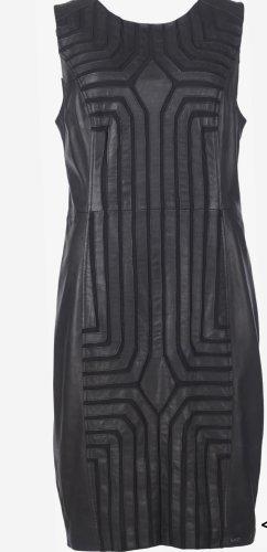 Maze Vestido de cuero negro Cuero
