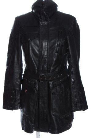 Maze Leather Coat black casual look