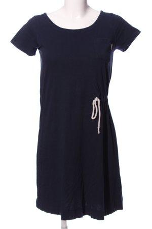 Mazine Jerseykleid blau-weiß Motivdruck Business-Look