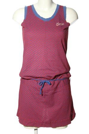 Mazine Abito jersey rosso-blu stampa integrale stile casual