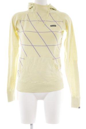 Mazine Kapuzenpullover blassgelb-helllila Streifenmuster sportlicher Stil