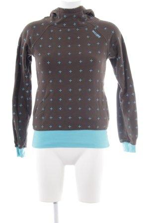 Mazine Kapuzensweatshirt graubraun-hellblau Casual-Look