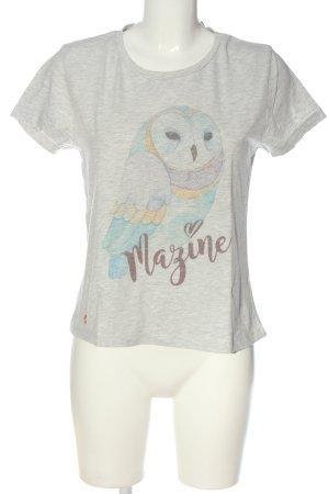 Mazine Camicia fantasia grigio chiaro puntinato stile casual