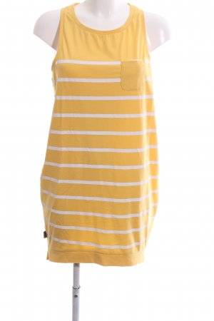 Mazine Shirtkleid blassgelb-weiß Streifenmuster Casual-Look
