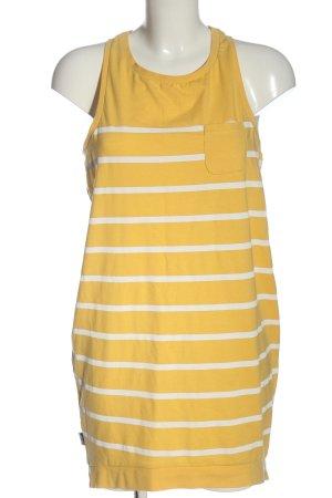 Mazine Chemisier giallo pallido-bianco motivo a righe stile casual
