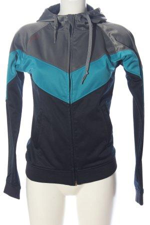 Mazine Sportjacke blau-hellgrau Casual-Look