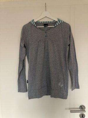 Mazine Felpa con cappuccio grigio chiaro-turchese