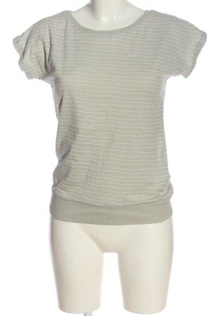 Mazine T-shirt crema motivo a pallini stile casual