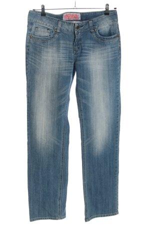 MBJ Jeans a gamba dritta blu stile casual