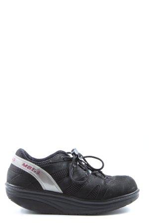 MBT Schnürschuhe schwarz-silberfarben sportlicher Stil