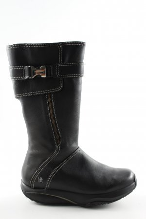 MBT Wide Calf Boots black casual look