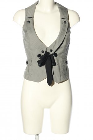 mbyM Waistcoat light grey-black striped pattern business style