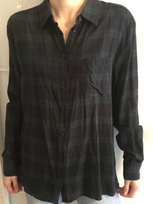 mbyM Camisa de leñador negro-verde oscuro