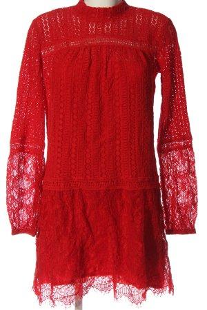 mbyM Vestido de cóctel rojo Patrón de tejido elegante