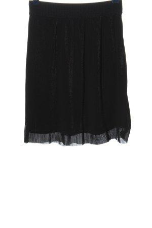 mbyM Falda a cuadros negro estampado a rayas look casual
