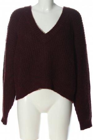mbyM Grobstrickpullover rot Zopfmuster Casual-Look