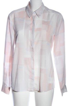 mbyM Hemd-Bluse pink-weiß Allover-Druck Casual-Look