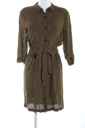 mbyM Vestido tipo blusón marrón estampado repetido sobre toda la superficie