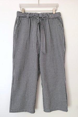 mbyM Hose Culotte FEMKE Seersucker Vichy-Muster schwarz-weiß Gr. L