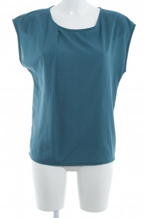 mbyM Blusa de manga corta azul cadete