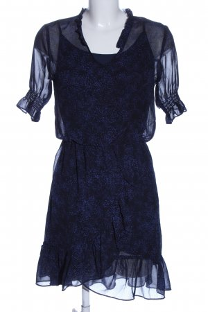 mbyM Kurzarmkleid blau-lila Allover-Druck Elegant