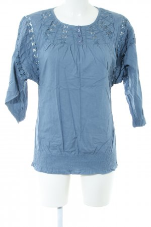mbyM Langarm-Bluse blau Casual-Look