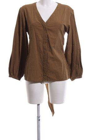 mbyM Langarm-Bluse bronzefarben Business-Look