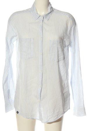 mbyM Camisa de manga larga blanco-azul look casual