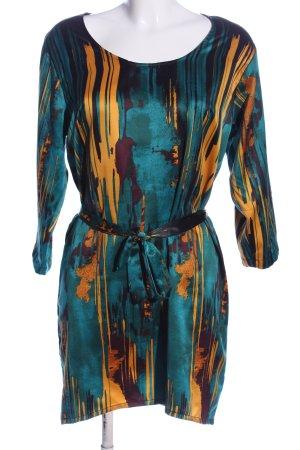 mbyM Robe à manches longues bleu-orange clair motif abstrait