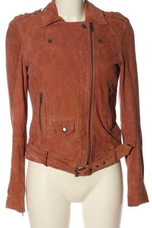 mbyM Veste en cuir orange clair style décontracté