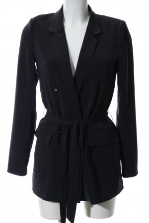 mbyM Long-Blazer schwarz Business-Look