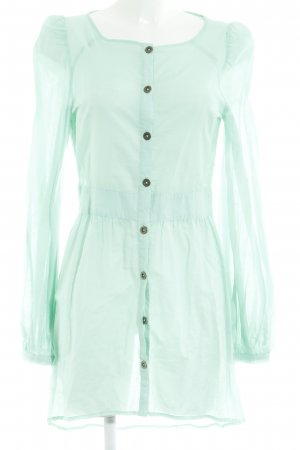 mbyM Long-Bluse hellgrün schlichter Stil