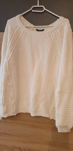 Pullover a maglia grossa bianco