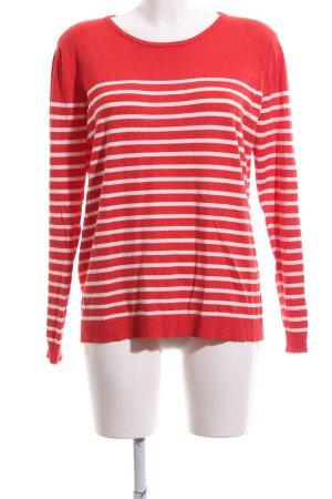 mbyM Longsleeve rot-weiß Streifenmuster Casual-Look