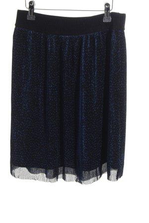 mbyM Minirock schwarz-blau Punktemuster Casual-Look