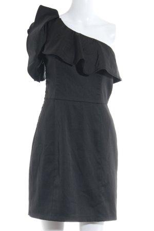 mbyM Vestido de un hombro negro elegante