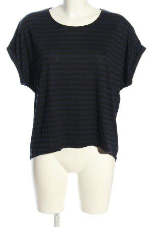 mbyM Oversized Shirt schwarz-blau Streifenmuster Casual-Look