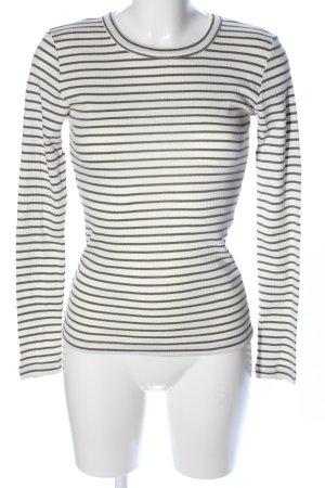mbyM Ringelshirt weiß-khaki Streifenmuster Casual-Look