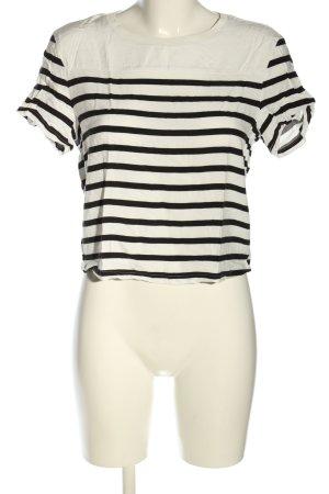 mbyM Ringelshirt schwarz-weiß Streifenmuster Casual-Look