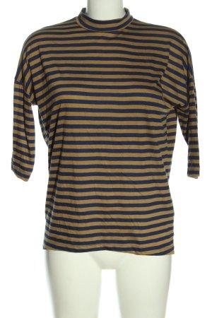 mbyM Camisa de rayas negro-marrón estampado a rayas look casual