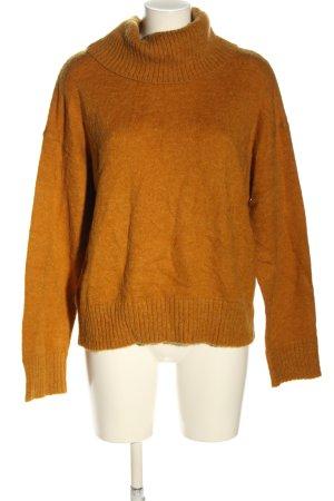 mbyM Jersey de cuello alto naranja claro look casual