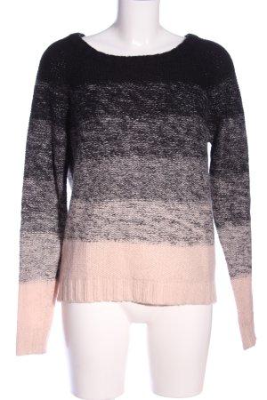 mbyM Rundhalspullover schwarz-pink Farbverlauf Casual-Look