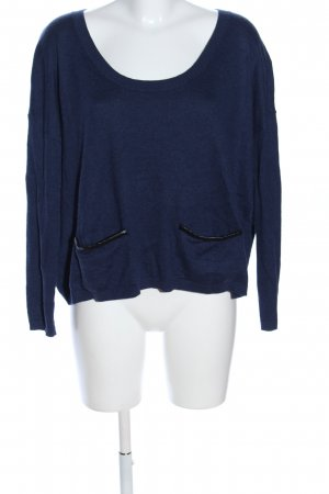 mbyM Rundhalspullover blau meliert Casual-Look